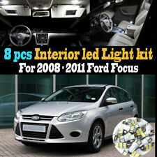 8Pc Super White Car Interior LED Light Bulb Kit Package for 2008-2011 Ford Focus