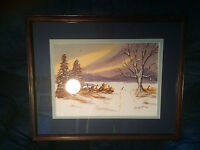 "Lovely ""Winter Landscape"" Watercolor Painting - Signed And Framed"