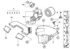 Air Intake Duct Right Genuine BMW 1 Series E81 E82 E87 135i 120i 13717547591