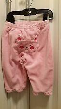 PLACE Adorable Soft Velour Pink Pants/Cat 6/9M