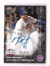 Kris Bryant 2016 Topps Now NL Pennant NLCS On Card Auto Autograph /199 in-hand