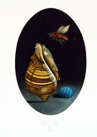 """""""L'abeille"""" 1982. Mezzotinto Al-Hasimi AZZA (Hachmi Azza *1950 MAR) handsigniert"""