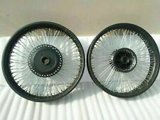 Royal Enfield Classic 80 Spokes 18 And 19 Front Disk Rear Drum Wheel Rim Black