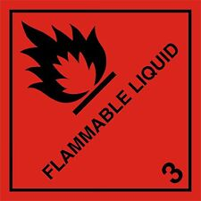 FLAMMABLE LIQUID HAZARD WARNING MAGNETIC SIGN 100mm x 100mm hazchem h&s