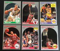 JORDAN, Bird, Magic and More...1990-91 NBA Hoops Lot (6 Cards)--Free Shipping!!