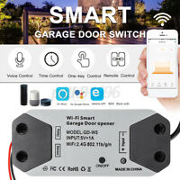 Wireless WiFi Switch Garage Door Opener Kit App Controller for Alexa Google Home
