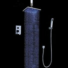 12'' LED Ceiling Mount Rain Shower System with the Shower Head & Hand shower Set