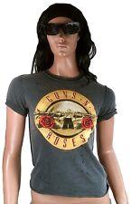 AMPLIFIED GUNS N ROSES Drum Logo Rock Star Strass Vintage Löcher T-Shirt S 34/36