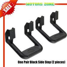 1Pair (2pcs) BLACK SIDE STEP DODGE RAM JEEP UNIVERSAL ALUMINUM ADJUSTABLE NERF