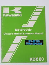 Nos Kawasaki Motorcycle Owner's & Service Repair Manual Kdx 80 Kdx80 C1 1984 (Fits: Kawasaki)