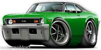 73-74 Chevy Nova SS 350 Turbo Fire Muscle Car Wall Graphic Decal Poster Cling