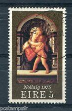 IRLANDE - 1975, timbre 335, NOEL, TABLEAU LIPPI, oblitéré