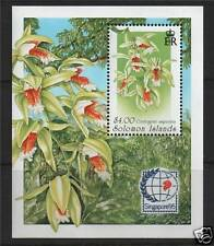Solomon Is 1995 Orchids MS SG 841 MNH