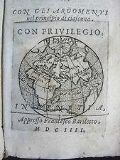VALDERA : EPISTOLE OVIDIO VENEZIA 1604 - MAPPA GLOBO GLOBE MAP POLO NORD