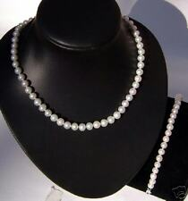 1-St Knotted Large Freshwater Pearl Necklace w/ Bracelet, Great Gift, Low Price!