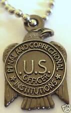 PRISON GUARD State Jail Corrections Mini Badge PENDANT NECKLACE w/ CHAIN