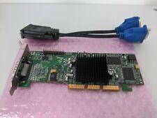 SFF DUAL MATROX G550 32MB AGP G55MADDA32DB GRAPHICS CARD WITH SPLITTER CABLE