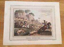 1813 - Tartars Hunting Deer - Fine Edward Orme Coloured Aquatint.