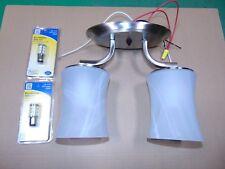 2 Pcs New Gustafson Dual LED Lamp Light Fixtures for Camper / RV 12 Volt