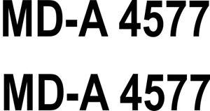 2x Schlauch Boots Aufkleber Bootskennzeichen Kennzeichen FOIL0023