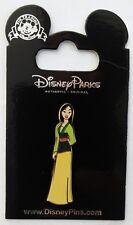 Glitter Dress Series MULAN Green & Yellow Dress SPARKLE TOP Disney Pin NEW