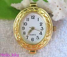 5pcs Gold Quartz OVAL Watch face for beading M7312