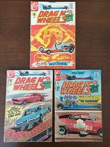 Drag N' Wheels #41, #45 and #59 Charlton Comics 1970-73