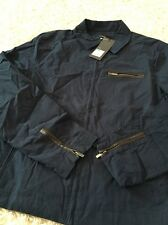 Mossimo Slim Fit Medium Mens Navy Zip Front Jacket Coat  Nwt 39.99$