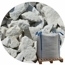 weiße Gabionensteine 1000kg BigBag, Gabionenfüllung, Marmor Bruchsteine 90-200mm