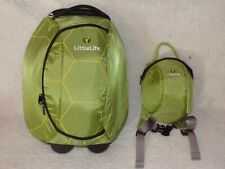 LittleLife Turtle 2 Wheeled Luggage Suitcase/Bag & matching toddler backpack vgc