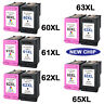 New Chip Ink Cartridges Black & Color For HP 63 XL 65 XL 62 XL 61 XL 60 XL