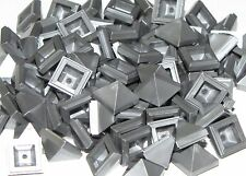 LEGO 100 NEW FLAT SILVER SLOPED 45 1 x 1 x 2/3 QUADRUPLE CONVEX SLOPE PIECES