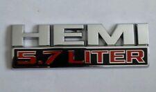 DODGE RAM FENDER EMBLEM SET HEMI 5.7 LITER 68149700AA 411319
