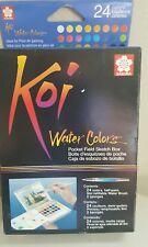 Koi water colors pocket field sketch book 24 colors