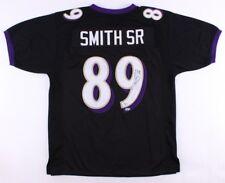 Steve Smith Sr. Signed Ravens Jersey (Smith Holo) 5× Pro Bowl ( 01,05,06,08,11)