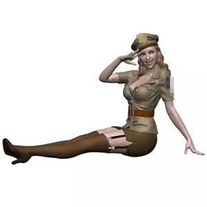 1/16 Resin Figure Model Kit Sexy Girl Female Pilot US Uniform WWII Unpainted
