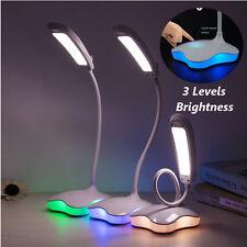 Tactile Dimmable Lampe de Table Lecture Bureau LED Chevet Veilleuse USB Flexible