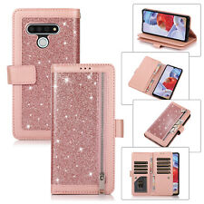 For LG Stylo 6, Luxury Bling Flip Leather Wallet 9 Card Slots Soft Case Cover