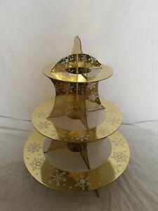 3 TIER DISPLAY CAKE STAND CHRISTMAS, WEDDING, TEA, PARTY TABLEWARE HOLDER UK