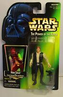 1996 Kenner Star Wars Han Solo - POTF 2 Green Card New & Sealed Figure MOC