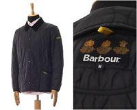 Mens BARBOUR Liddesdale Quilted Quilt Jacket Coat Black Size M