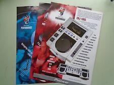 Pioneer DJ Leaflets x 3