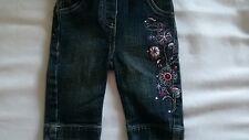 Mills Wear Baby Hosen Jeans Mädchen mit Straß bestickt Gr 56 mit Gummizug neu