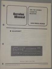 Blaupunkt SAN DIEGO SQR28 AM-FM Cassette OEM Service Manual
