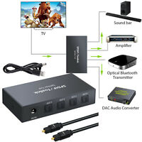 SPDIF TOSLINK Switcher 4x1 Digital Optical Audio Splitter Cable for PS3 DVD HDTV