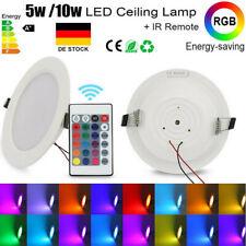 5W/10W RGB 16 Farbwechsel LED Panel Licht leuchte Deckeneinbau +IR Fernbedienung