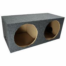 "Car Audio Dual 12"" Sealed Subwoofer Rear Angle Sub Box Enclosure Speaker Audio"