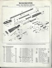 Winchester Model 1200 Component Parts List - January 3, 1966