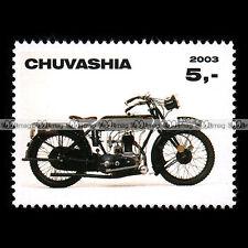 ★ SUNBEAM 500 MODEL 3 1924 ★ CHUVASHIA Timbre Moto Classic Motorcycle Stamp #308