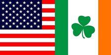 Wholesale Lot of 6 USA Ireland Irish Shamrock friendship Decal Bumper Sticker